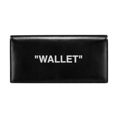 Off-White Quote Yen Wallet Black White