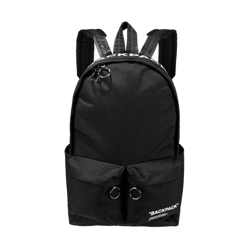 Off-White Quote Backpack Black White
