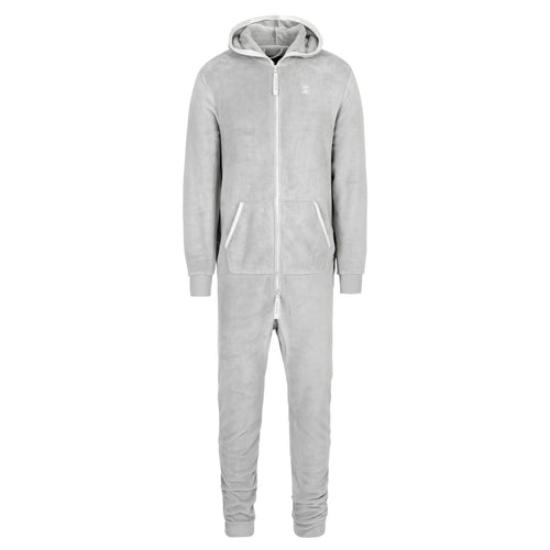 OnePiece Puppy Hugs Fleece Jumpsuit Grey Mel