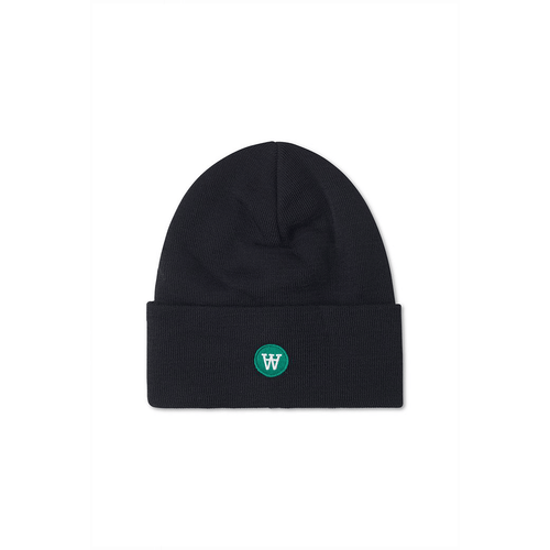 Wood Wood Gerald Tall Beanie Black