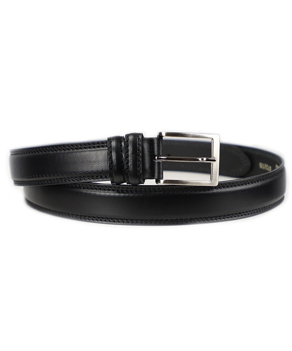 Double Stitched Belt - Black