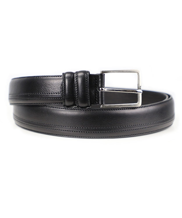 Side Stitch Belt - Black