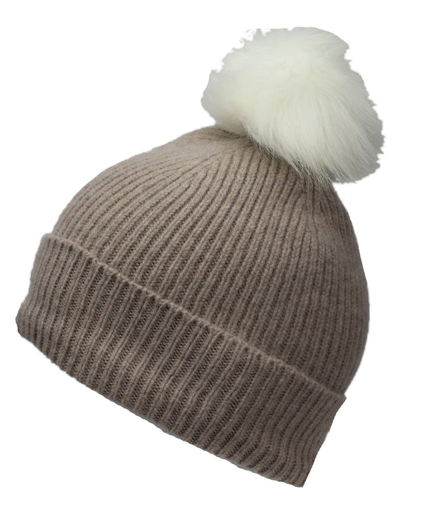 Best Winter Pom Beanie in Beige - World Chic