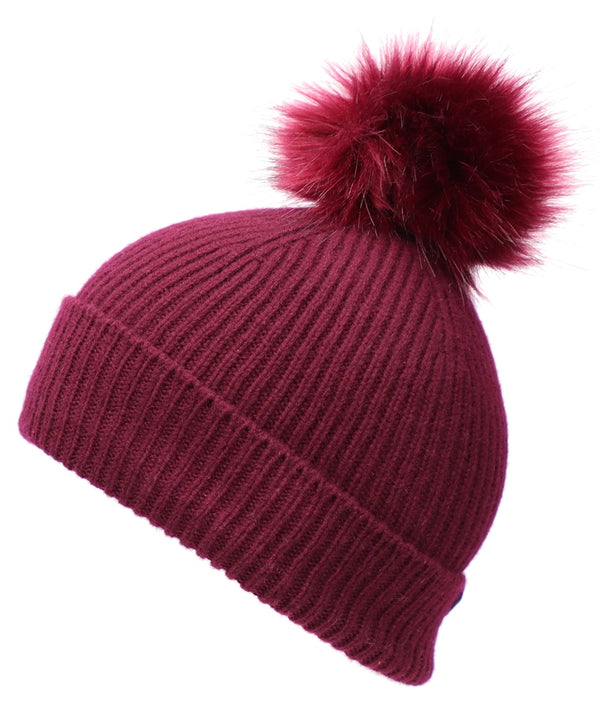 Best Winter Pom Beanie in Grey - World Chic