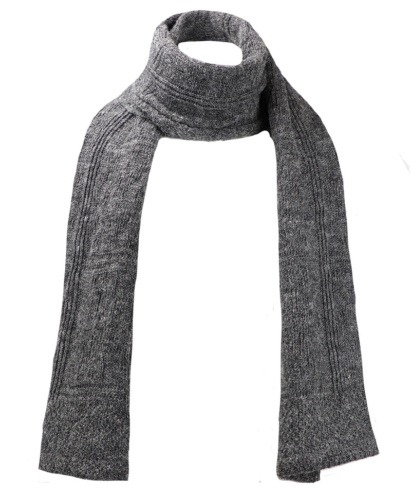 Wool Blanket Scarf - Gray
