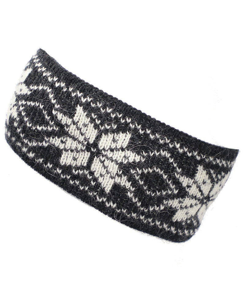 Best Winter Headband in Grey and White - World Chic
