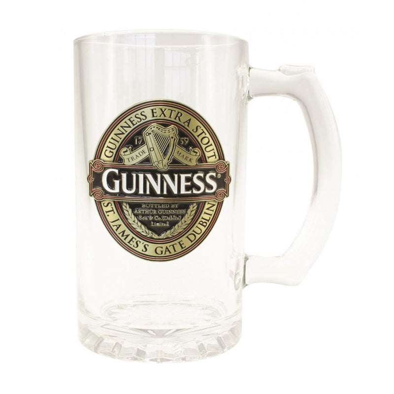 Guinness Pint Glass With Badge
