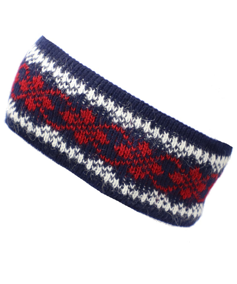 Best Winter Headband in Navy and Red - World Chic