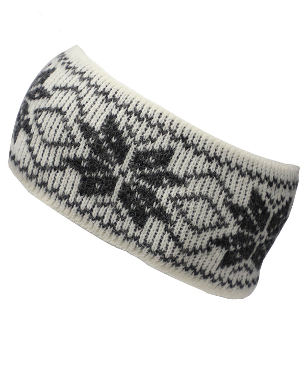 Best Winter Headband in White and Grey - World Chic