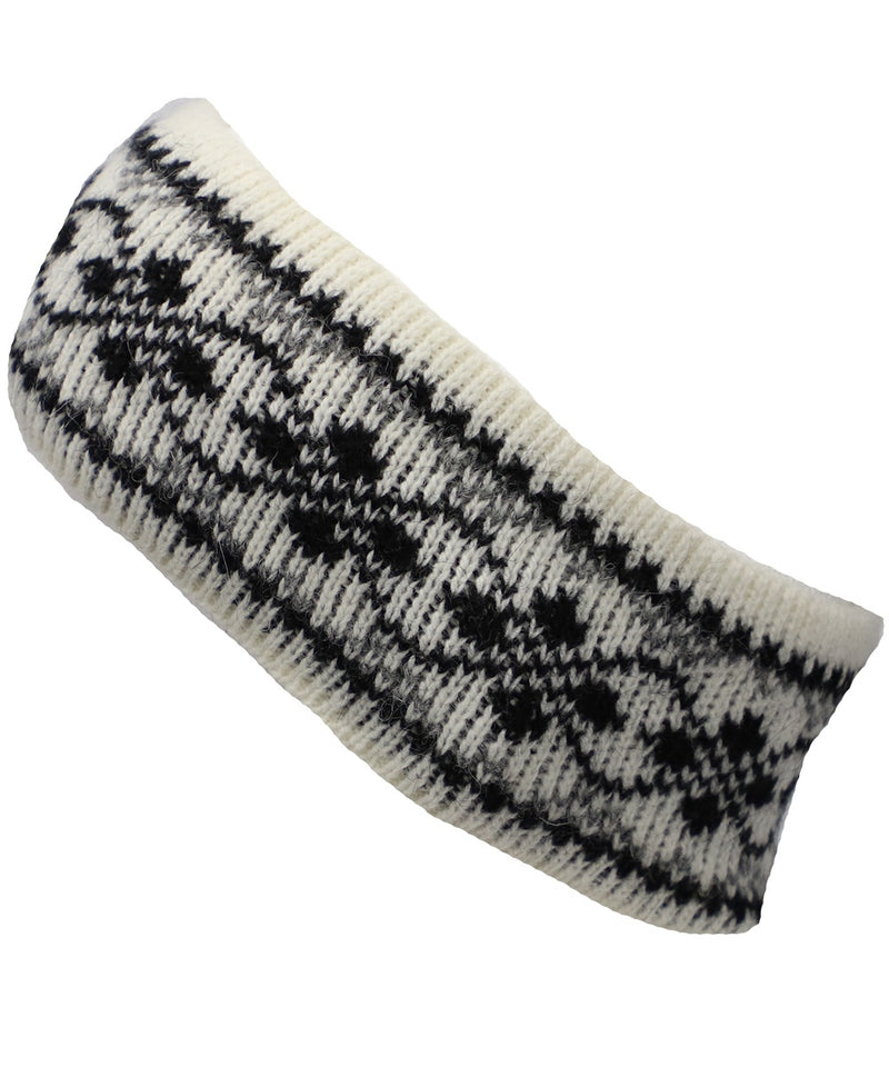 Best Winter Headband in White and Black - World Chic