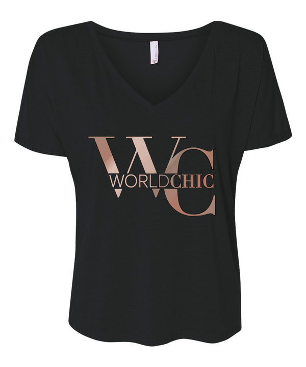 World Chic Women's V-Neck T-Shirt