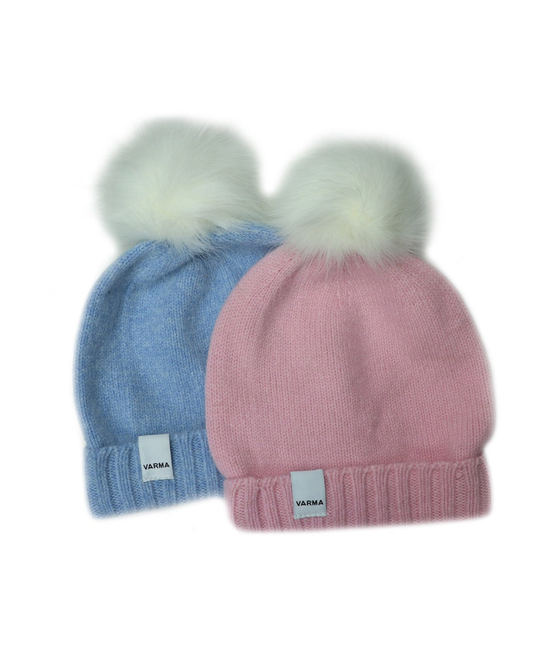 Child Beanie With Faux Fur Pom