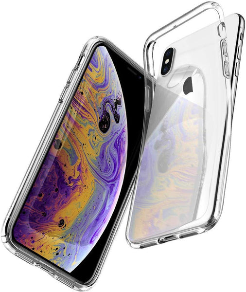 Apple iPhone X/XS Case - Crystal Clear Reinforced Corners Hard Shell Cover Fit