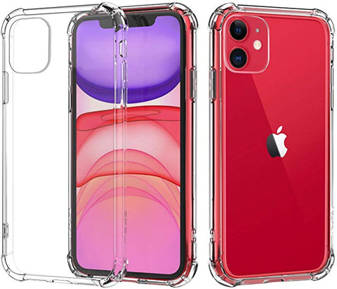 Apple iPhone 11 Case - Crystal Clear Reinforced Corners Hard Shell Cover Fit
