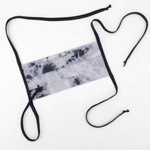 Load image into Gallery viewer, Black Shibori Dyed Handmade Cotton Fabric Mask