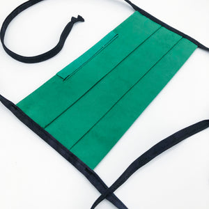 Solid Green Dyed Handmade Fabric Mask