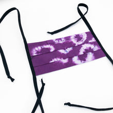 Load image into Gallery viewer, Purple Shibori Dyed Handmade Cotton Fabric Mask
