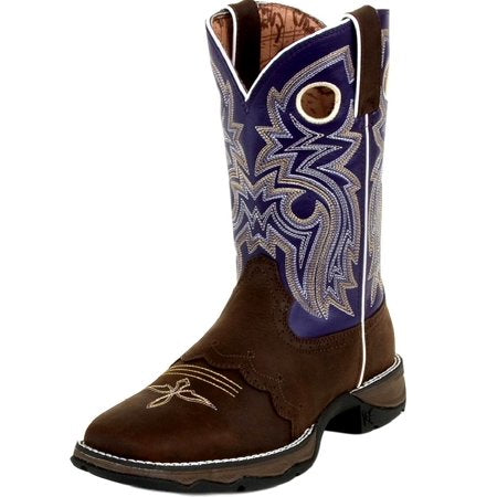 "durango western boot women 10"" rebel saddle square toe twilight rd3576"