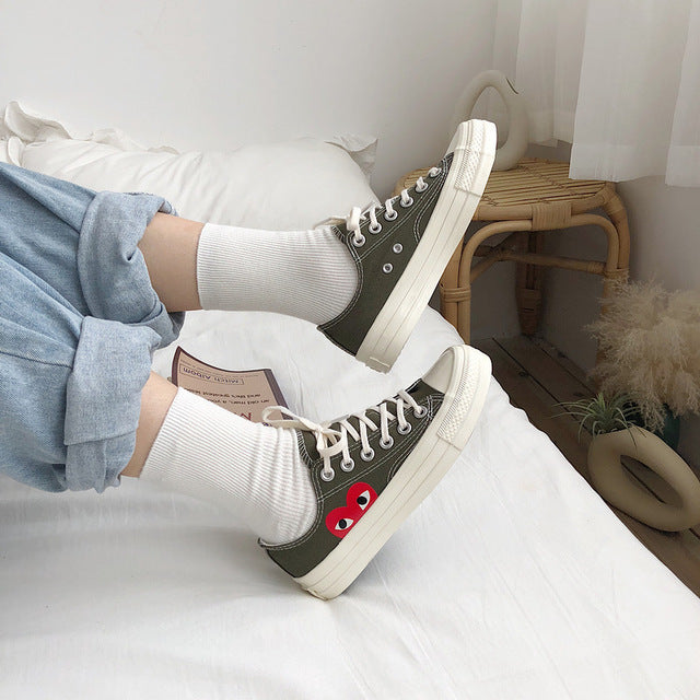 Wild Classic Retro Canvas Shoes Love Women Platform Sneakers  Zapatos De Mujer  Shoes Woman Tenis Masculino Adulto