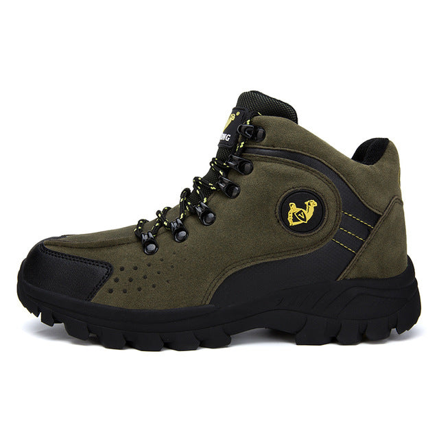 New Men Trekking Hiking Shoes  Men Waterproof Sport Shoes Fashion Men Outdoor Mountain Shoes Hiking Sneakers Big Size