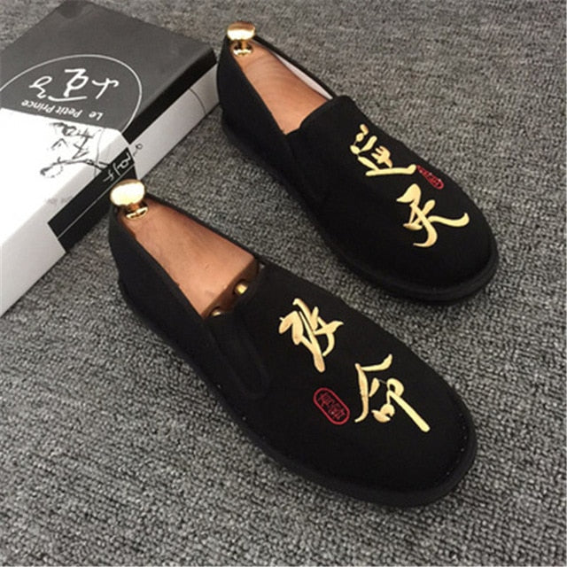 Spring Fashion Flats Shoes Espadrilles Loafers Light Hard-Wearing 2019 Man Women Canvas Harajuku Rubber Canvas Embroider Shoes