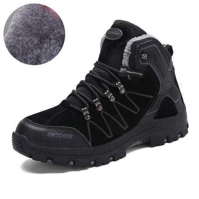 ZUNYU 2018 New Men Boots Autumn Winter Outdoor Sneakers Mens Snow Boots keep Warm Plush Boots Plush Ankle Snow Work Casual Shoes