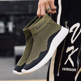 Mens Casual shoes High Top Breathable Flying Socks Shoes Men chaussure homme Leisure Sneakers Men Walking zapatillas hombre
