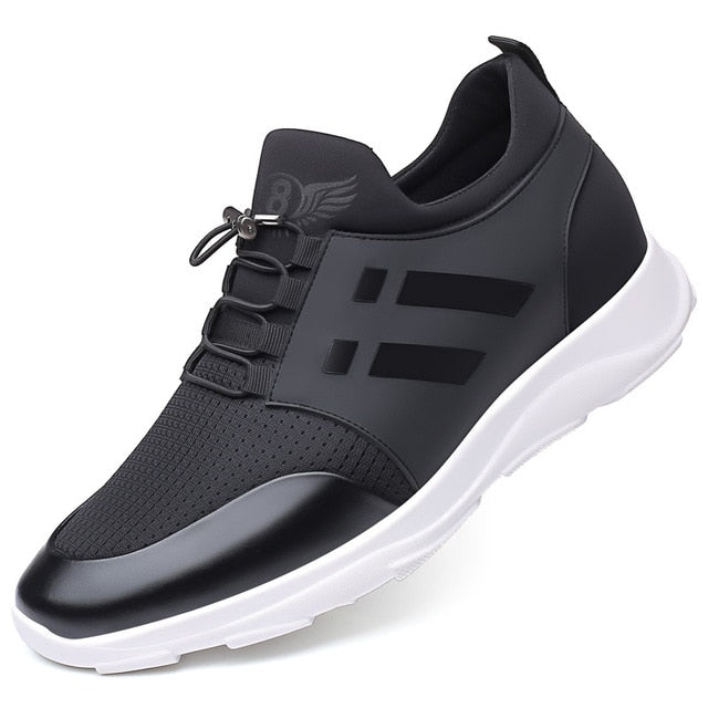 2019 New Flying Weaving Outdoor Sports Shoes Korean Edition Increases Fashion Men's Shoes Fashion Single Shoe Men's Shoes