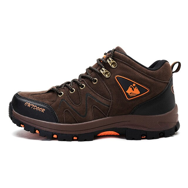 Outdoor Men Sneakers Hiking Shoes Fashion Fishing Trekking Shoes Waterproof Male Camping Sports Hunting Autumn Winter Boots