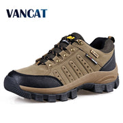 Vancat 2019 New Brand spring Fashion Outdoors sneakers Waterproof Men's shoes Mens Combat Desert Casual Shoes Plus Size 36-47