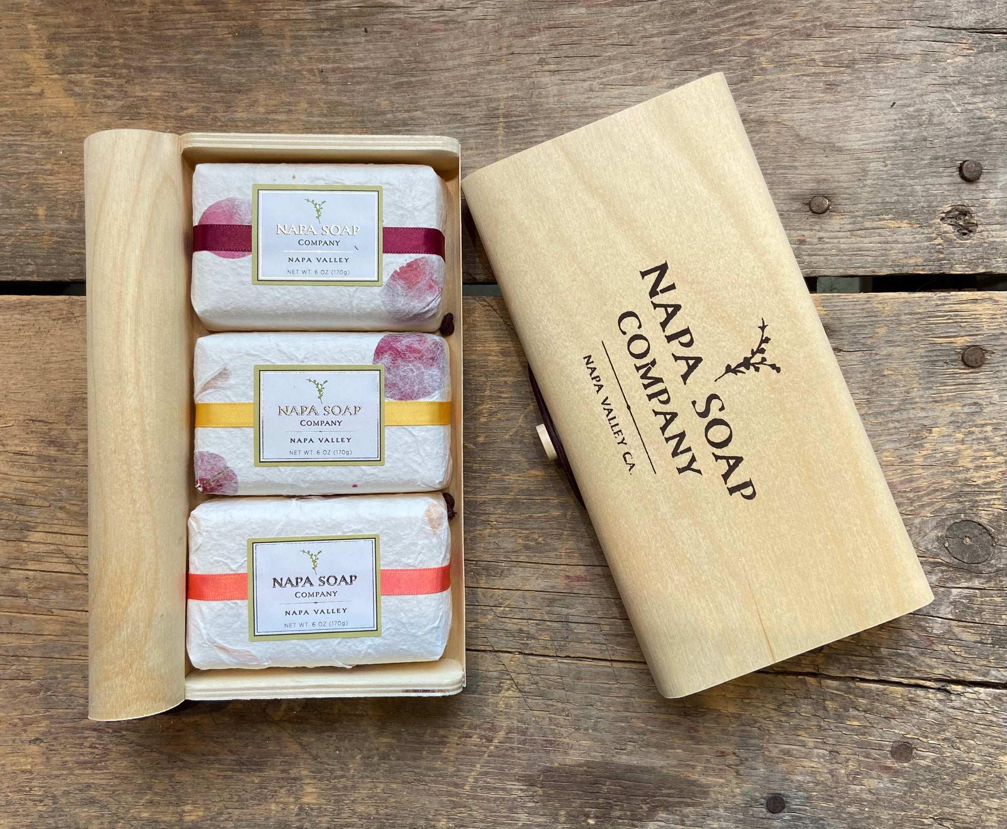 3 Bar Gift Box - Wine Lovers - Napa Soap Company