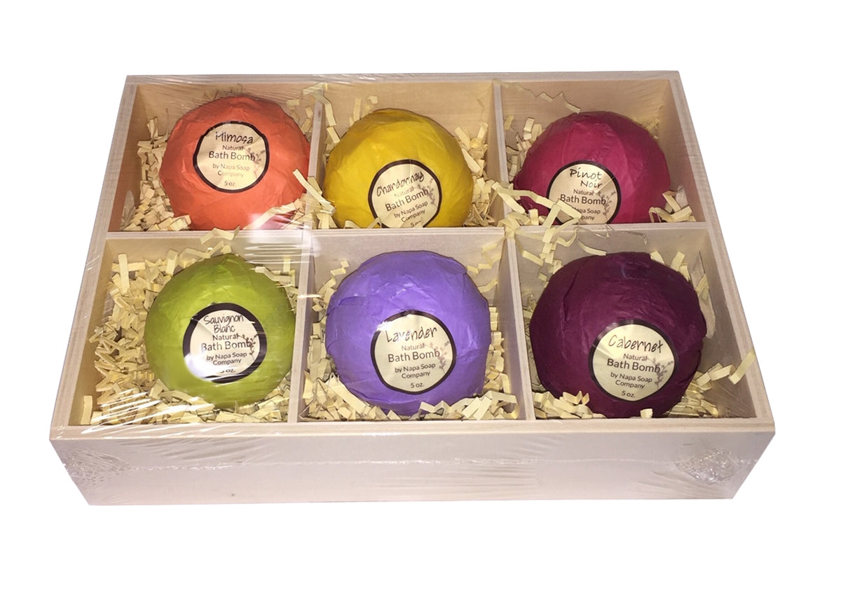 Bath Bomb 6 Piece Gift Set - Napa Soap Company