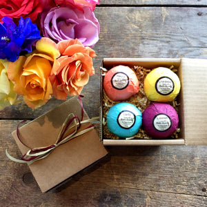 4 Piece Bath Bomb Gift Set - Napa Soap Company