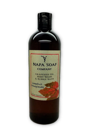 Grapefruit Pomegranate Grapeseed Oil Bath Gel & Bubble Bath - Napa Soap Company