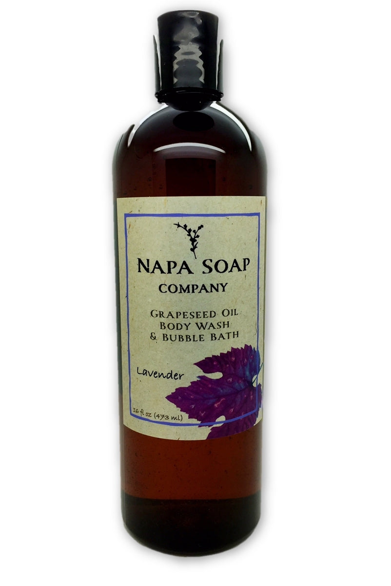 Lavender Grapeseed Oil Bath Gel & Bubble Bath - Napa Soap Company