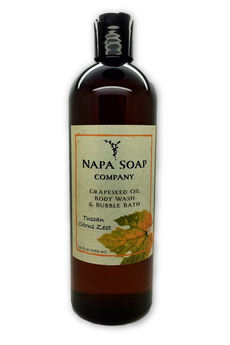 Tuscan Citrus Zest Grapeseed Oil Bath Gel & Bubble Bath - Napa Soap Company