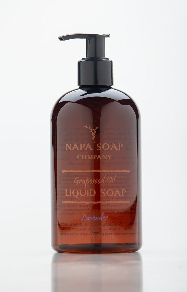 Lavender Grapeseed Oil Liquid Soap 12 oz. - Napa Soap Company