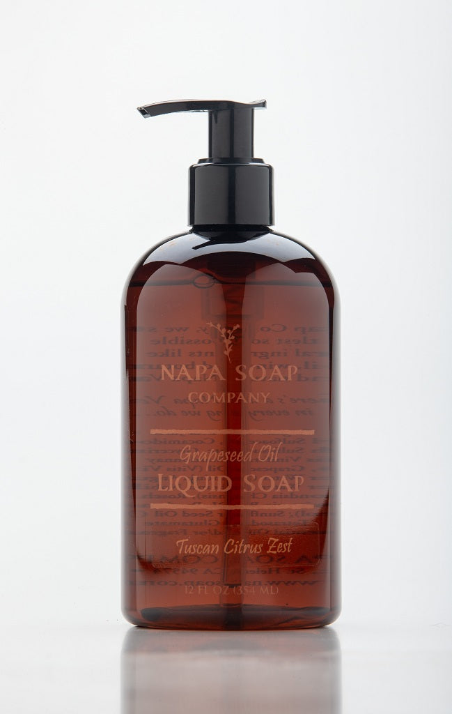 Tuscan Citrus Zest Grapeseed Oil Liquid Soap 12 oz. - Napa Soap Company