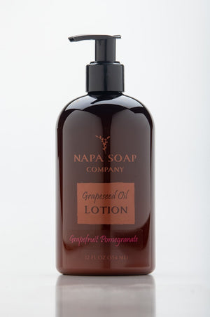 Grapefruit Pomegranate Grapeseed Oil Lotion 12 oz. - Napa Soap Company
