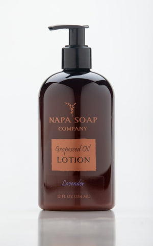 Lavender Grapeseed Oil Lotion 12 oz. - Napa Soap Company