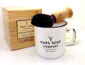 Enamel Shaving Soap Gift Set - Napa Soap Company