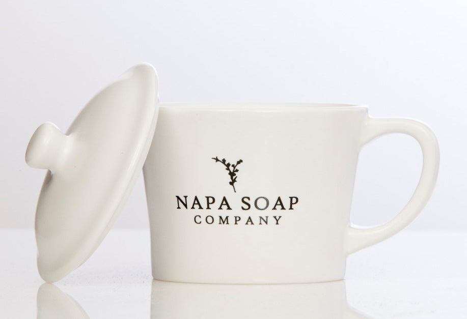 Ceramic Shaving Soap Gift Set - NO BRUSH - Napa Soap Company