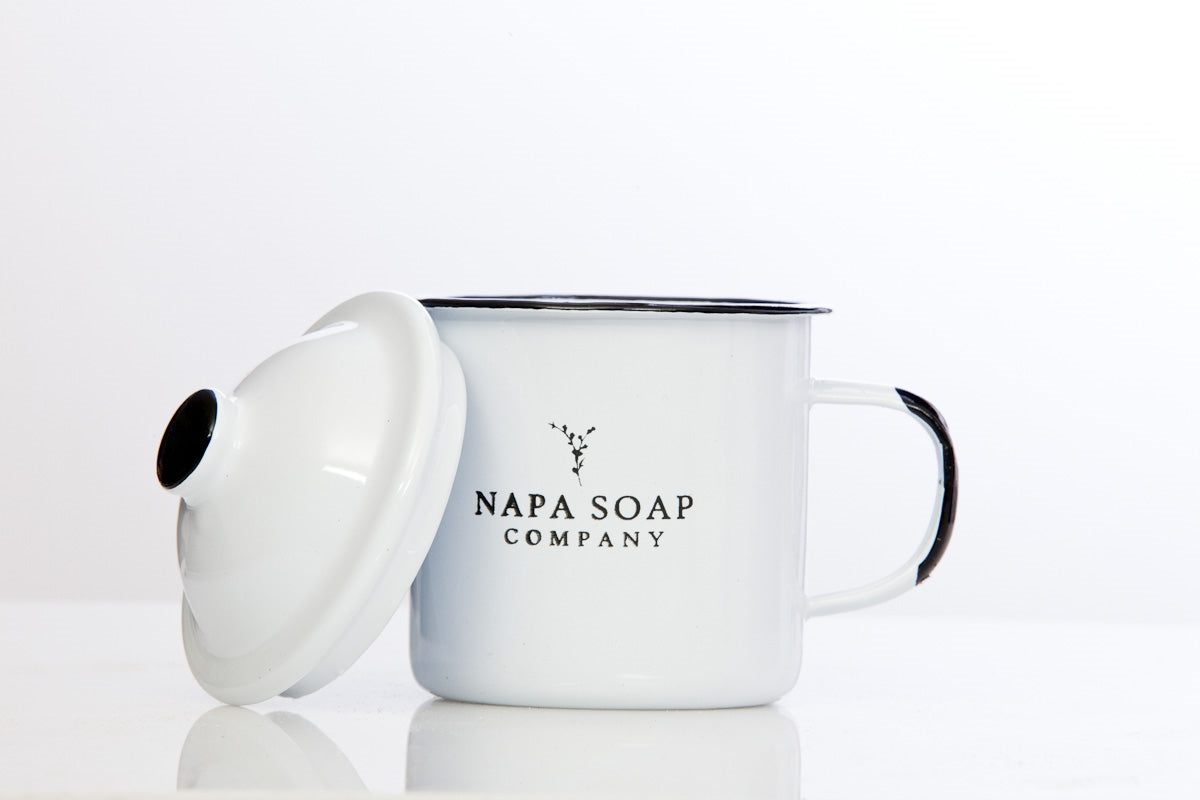 Enamel Shaving Soap Gift Set - NO BRUSH - Napa Soap Company