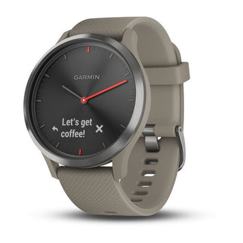 Garmin vívomove® HR Black with Sandstone Silicone Band (Newly Overhauled)