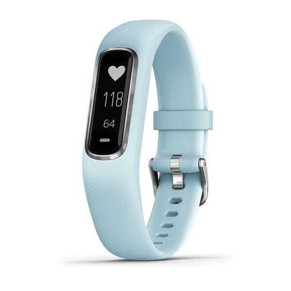 Garmin vívosmart® 4 Silver with Azure Blue Band (Small/Medium) (Newly Overhauled)