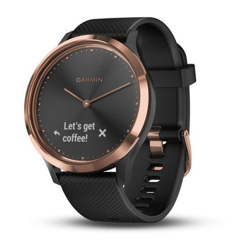 Garmin vívomove® HR Rose Gold with Black Silicone Band (Newly Overhauled)