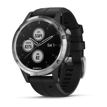 Garmin fenix® 5 Plus Silver with Black Band (Newly Overhauled)