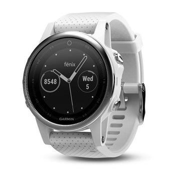 Garmin fenix 5S White with Carrara White Band (Newly Overhauled)