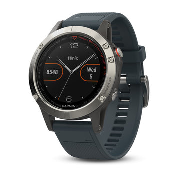 Garmin fēnix® 5 Silver with Granite Blue Band (Newly Overhauled)