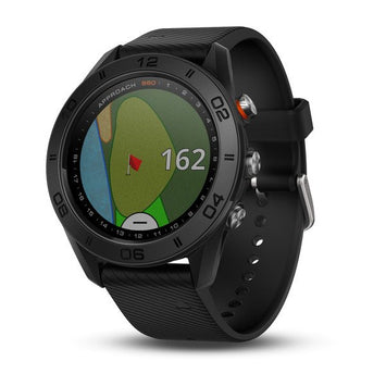 Garmin Approach® S60(Black with Black Silicone Band) (Newly Overhauled)